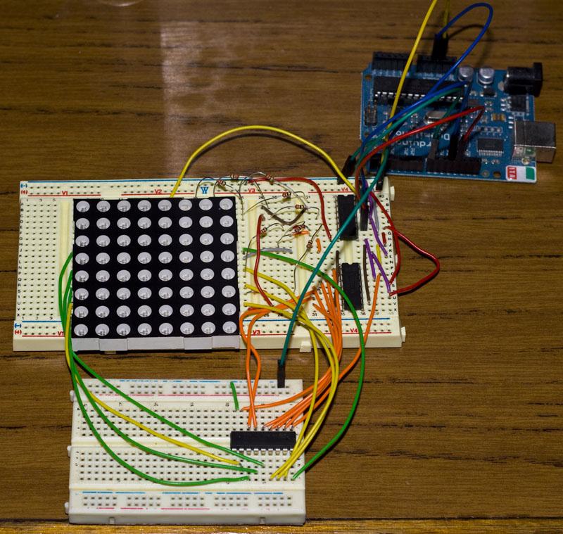 Fun with 8×8 LED Matrix « insideGadgets