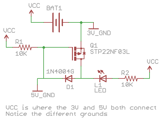 Change voltage sources automatically by using a Mosfet « insideGadgets