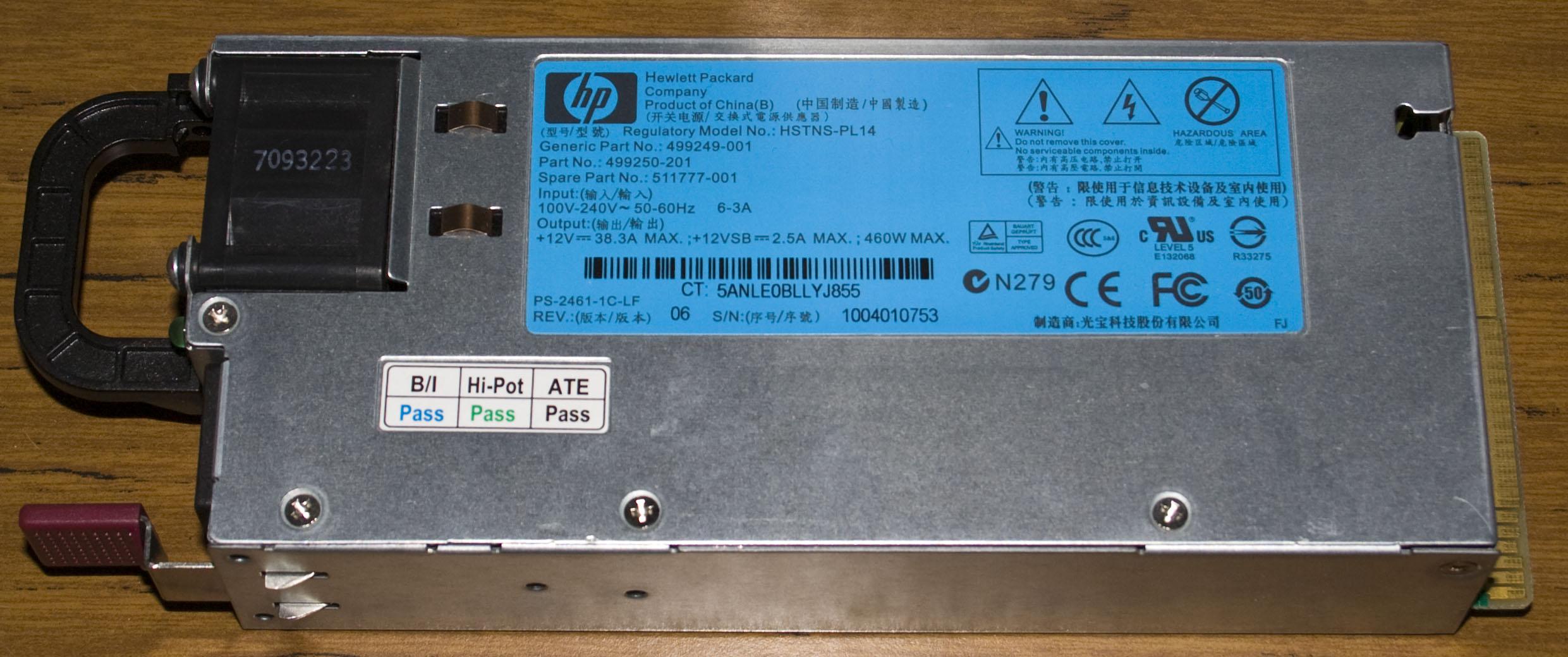 Inside the HP ML350 G6 Server Hot Plug Power Supply « insideGadgets