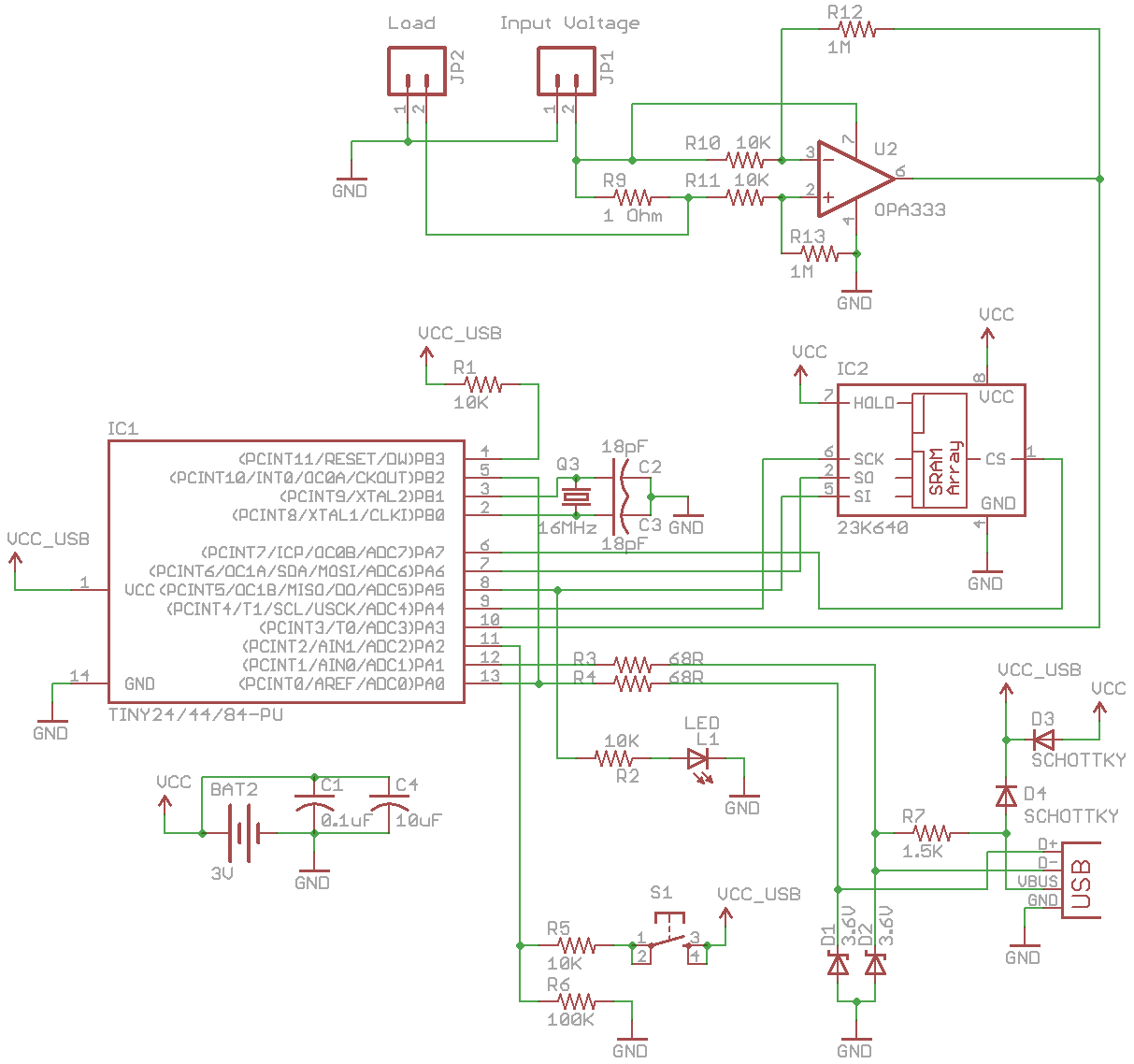 Insidegadgets Battery Chargher Using Lm317 Regulator Circuit Schematic The Easiest Way Is To Use 2 Diodes One Going From 3v 5v Usb Which Will Allow Attiny Be Powered By Or