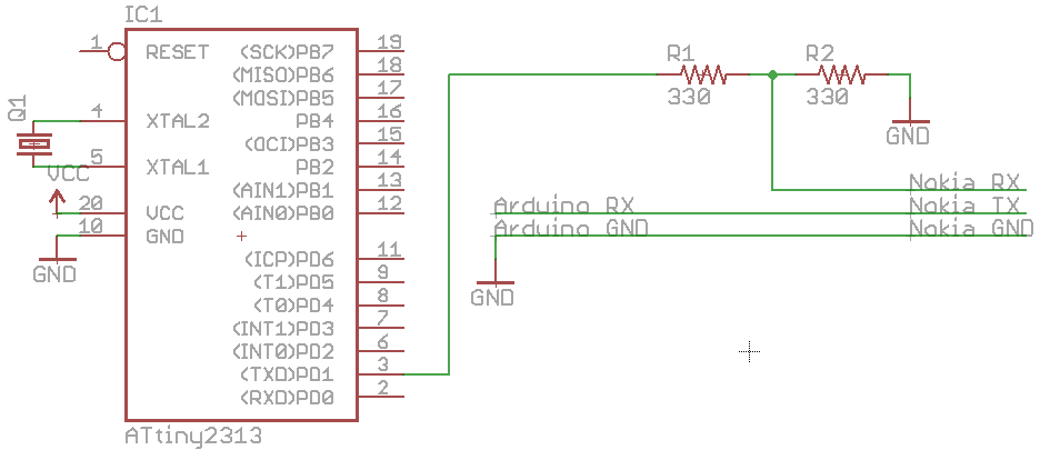 Using the ATtiny2313A to send serial data using USART « insideGadgets