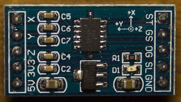 Playing around with Accelerometers and a small project