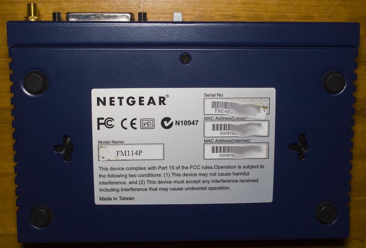 NETGEAR FM114P TREIBER WINDOWS 7