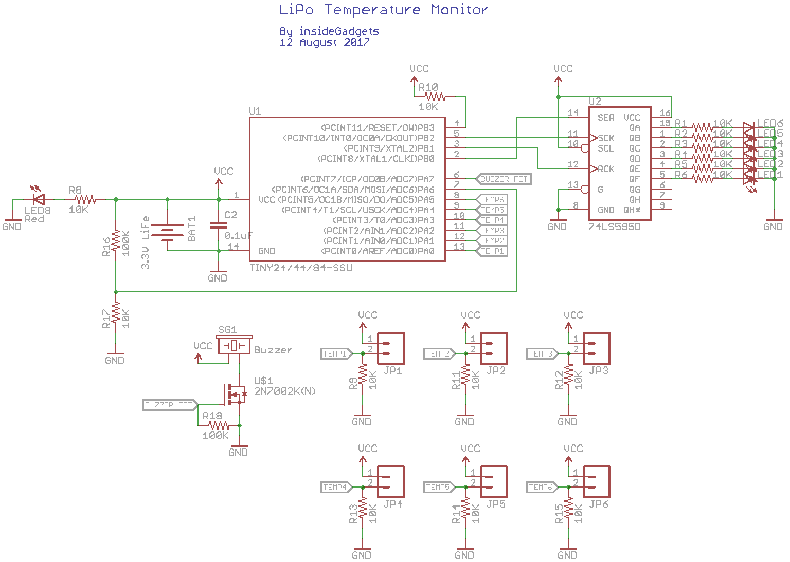 Building A Lipo Charging Temperature Monitor Insidegadgets Circuit Diagram Thermistor Download The Eagle Schematic Board Layout For Milling And Code Temp V01